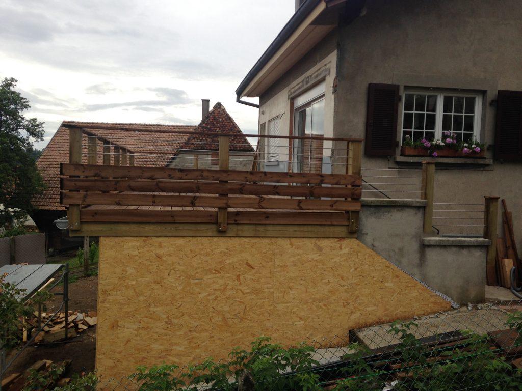 extention ossature bois terrasse charpente pflieger sas. Black Bedroom Furniture Sets. Home Design Ideas
